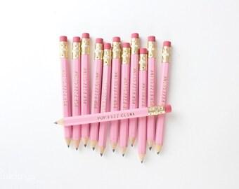 POP FIZZ CLINK Gold Foil Pink Mini Pencils // Bridal Shower Party Game Pencils
