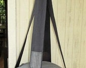 Cat Bed, Grey & Black Pinstripe Single Kitty Cloud, Hanging Cat Bed, Pet Furniture, Pet Bed, Cat Tree