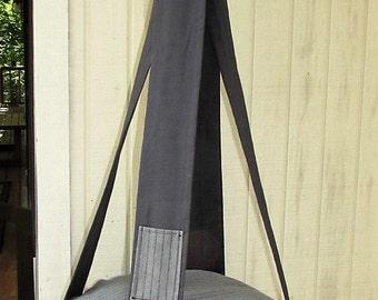 Cat Bed, Grey & Black Pinstripe Single Kitty Cloud, Hanging Cat Bed, Pet Furniture, Pet Bed, Cat Tree