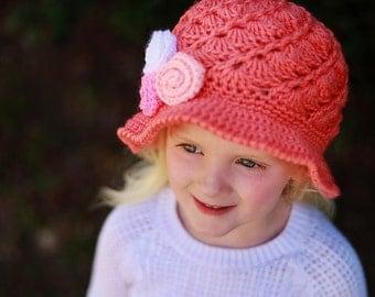 Crochet Sun Hat Pattern, Hat Crochet Pattern,  Visor Hat Pattern, Girls Sun Hat, Woman's Sun Hat, Baby sun Hat, April Sun Hat,