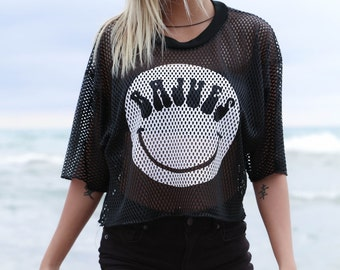 One of a Kind Vintage BAJUES Football Happy Face Unisex Top