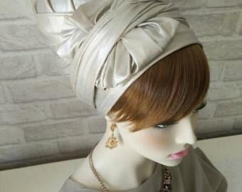Leatherette,hair wrap head scarf,israel clothing,snood,hair covering,head scarfs,oshratdesignz,chemo scarf,head tichel