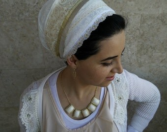 elegant tichel,jewish tichels,head coverings,hair scarves,hair wraps,wrap around and tie in the back