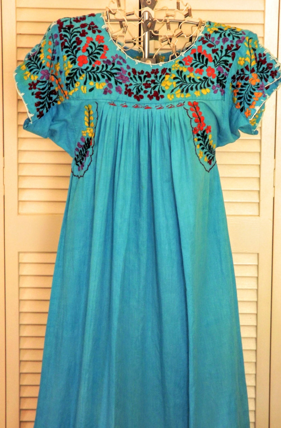 Mexican Dress Embroidered Womens Dress Traditional Mexican