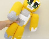"Stampy long nose softie Minecraft inspired Stampy cat 16"" plush doll - MADE TO ORDER"