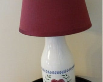 Kitchen Lamp Made from Milk Bottle Bank for your Country Farmhouse