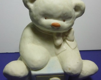 Teddy Bear Vintage Piggy Bank, 1980s
