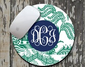 CHINOISERIE Personalized Mouse Pad, Personalized Mousepad, Monogrammed Mouse Pad, Monogrammed Mousepad, Custom Mouse Pad, Custom Mousepad