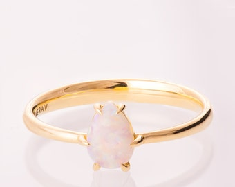 Pear Opal engagement ring, Unique Engagement ring, Opal ring, Pear Opal Ring, Unique Opal Ring, Comfort Fit Opal Ring, Australian Opal