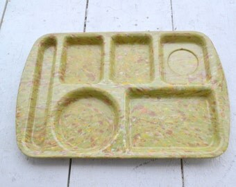 1950s Speckled Melamine Prolon Lunch Tray