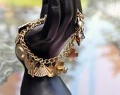 Delightful Coro Charm Bracelet - Loaded, 18 Charms