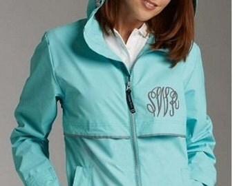 Monogrammed Rain Coat - 14 Great color choices