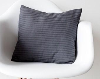 Charcoal Grey linen pillow