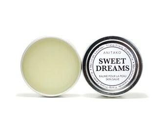SWEET DREAMS - Calming Balm, Sleep Salve, Stress Relief, Soothing Marjoram, Lavender & Ylang Ylang Essential Oil Blend