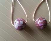NEW LISTING - Copper and Raw Amethyst Drop Earrings