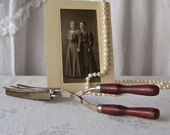 Vintage Hair Crimper Curling Iron Victorian Dressing Table Hair Fashion Curly Wave Beauty Salon Hair Styling Curling Tongs 1920s