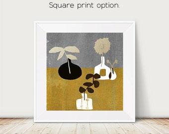 kitchen art, family room art, office decor,danish, illustration, office decor, modern art, Amy Lighthall