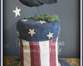 Uncle Sam hat, Americana Crow, America, USA, Flag, Crow, Stars, July 4th, Stars and Stripes, americana, patriotic