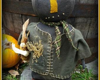 Primitive pumpkin doll, prim pumpkin, prim pumpkin doll, pumpkin, fall pumpkin, prim pumpkin