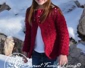 Ruby Cardigan Crochet Sweater Pattern for Girls