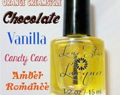 Scented Cuticle Oil Vanilla Chocolate Candy Cane Amber Romance Orance Creamsicle