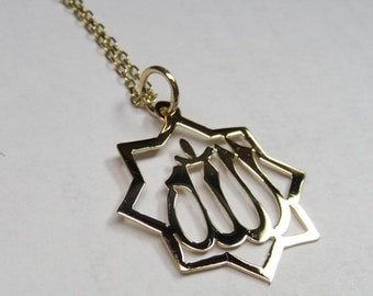 allah necklace , 1/2  size sterling silver  ...allah2