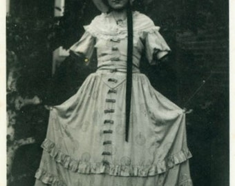 "Vintage Photo ""Southern Bell"" Snapshot Old Antique Photo Black & White Photograph Found Paper Ephemera Vernacular - 137"