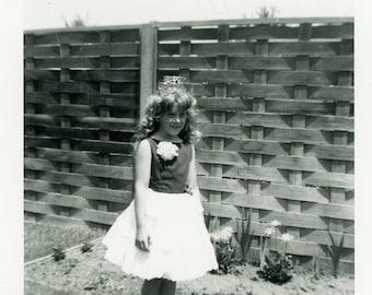 "Vintage Photo ""Ready for Her Parade Float"" Snapshot Old Antique Photo Black & White Photograph Found Paper Ephemera Vernacular - 67"