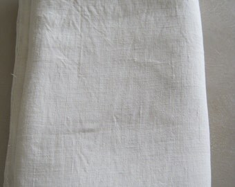 Antique French 19th Century Pure Linen Sheet With Centre Seam No 5