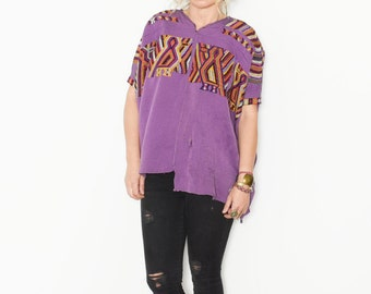 Vintage Huipil Top, Ethnic Embroidered Poncho , Guatemalan Top