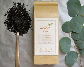 Organic Lapsang Souchong Black Tea • 7 oz. Kraft Bag • Classic Smoky Loose Leaf Tea