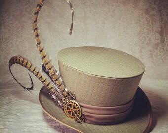 Steampunk hat, Full Size Top Hat, Mad Hatter hat, Alice in Wonderland Wedding, Pirate Hat, Cosplay hat, Steampunk Wedding, Festival Hat
