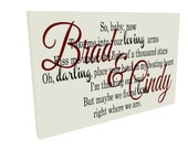 Ed Sheeran Thinking Out Loud, Wedding Song Lyrics , Anniversary Gift, Wedding Gift,  Wedding 1st Dance