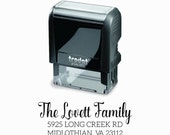 Self-Inking Address Stamp -  Custom Wedding Stationery Return Address - Self Inking & Eco Friendly Rubber Stamp - Wedding New Home Gift