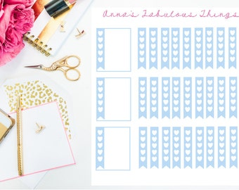 Heart checkboxes, banner checkboxes, to do boxes, to do stickers,Banner Stickers,May Erin Condren Planner Stickers,May ECLP Stickers