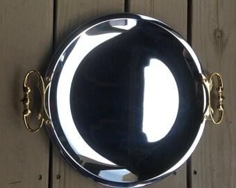 plateau miroir rond etsy. Black Bedroom Furniture Sets. Home Design Ideas