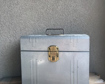 Vintage Metal File Box Another Good Frend Product Industrial Storage ~ #A1090