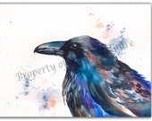"Watercolor Print ""Raven"" by Sandi McGuire"