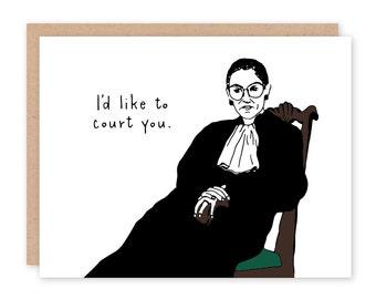 Ruth Bader Ginsburg Card - Court You