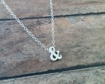 Ampersand Necklace // Silver Ampersand Charm Necklace // And Symbol // Ampersand Charm