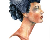"Athena.  Giclée on high-quality watercolor paper - signed by the artist.  5 x 7"" or 11 x 14"""