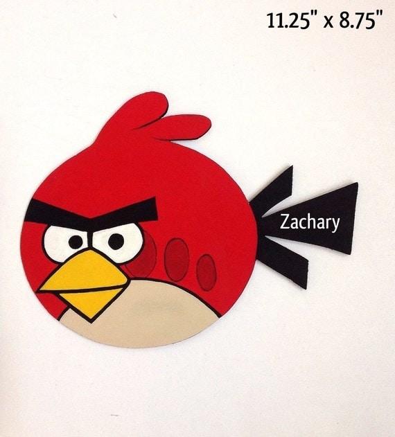 Angry Birds Sign Angry Birds Angry Birds Decor By