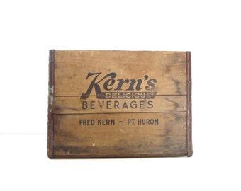 Vintage Wood Soda Pop Crate, Rustic Storage