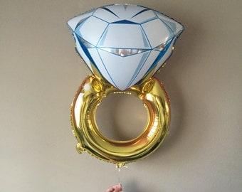 Jumbo 36inch Engagement Ring, Foil, Bachelorette Party Decor