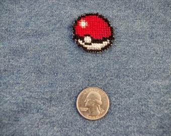 Pokemon Pokeball Mini Iron On Patch