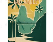 Iao Valley - 12x18 Retro Hawaii Print