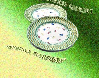 "Manifrattura de loveno's Richard Ginori.  ""Boboli Gardens."""