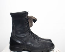 11.5 R | 1988 Vintage Standard Issue Military Black Combat Boots