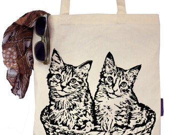 Kittens in a Basket - Eco-Friendly Tote Bag