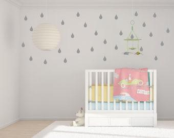 Rain Drop Wall Decals - RainDrop Decal Wall Sticker - Nursery Wall Decal -Wall Stickers - Rain Drop Decals